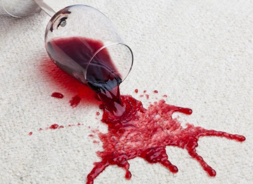 how to clean red wine stain carpet